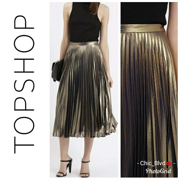 Women's Clothing Able Topshop Striped Midi Skirt Size 12